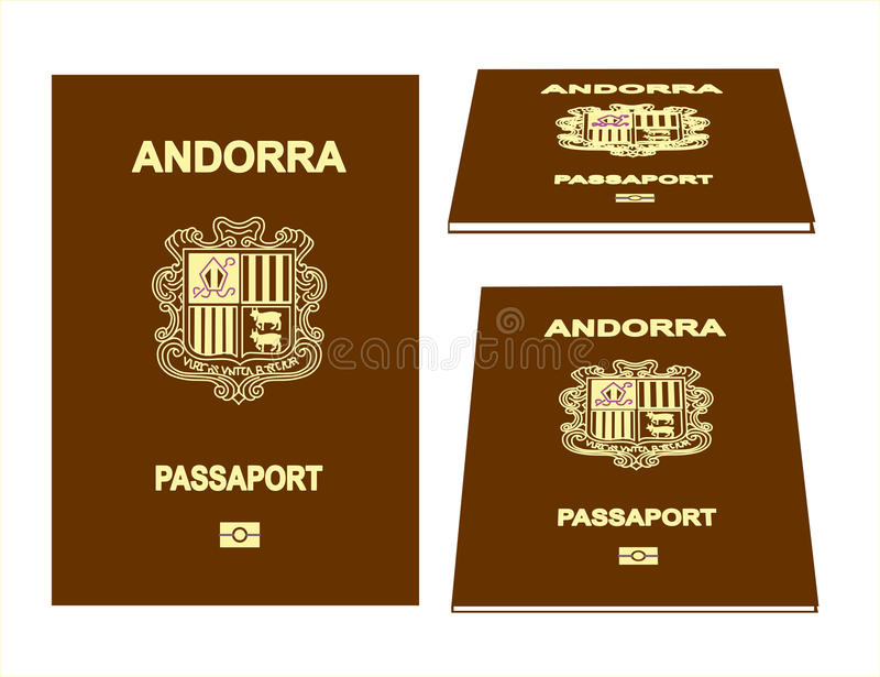 Passeport de l'Andorre illustration libre de droits