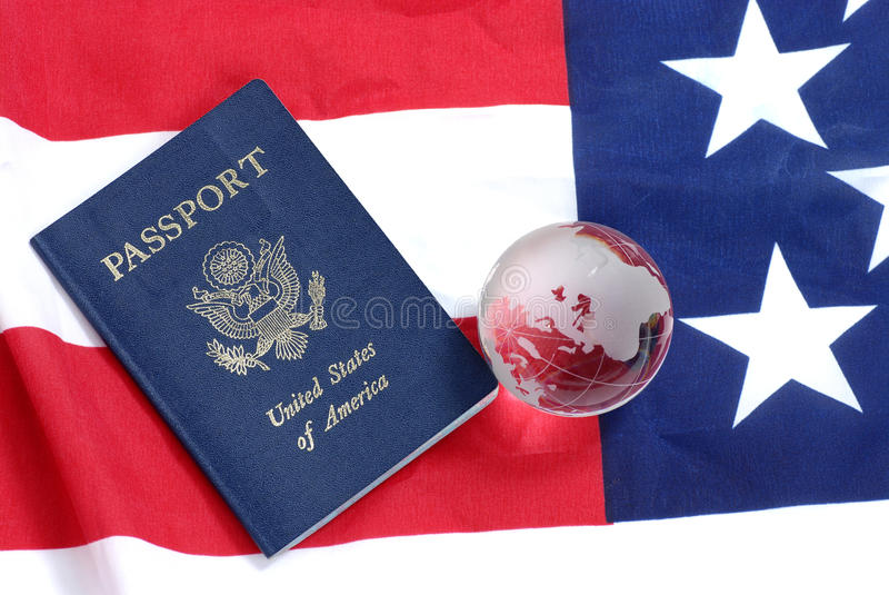 Passeport des USA images stock