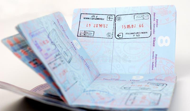 Passeport des USA : Francfort photographie stock