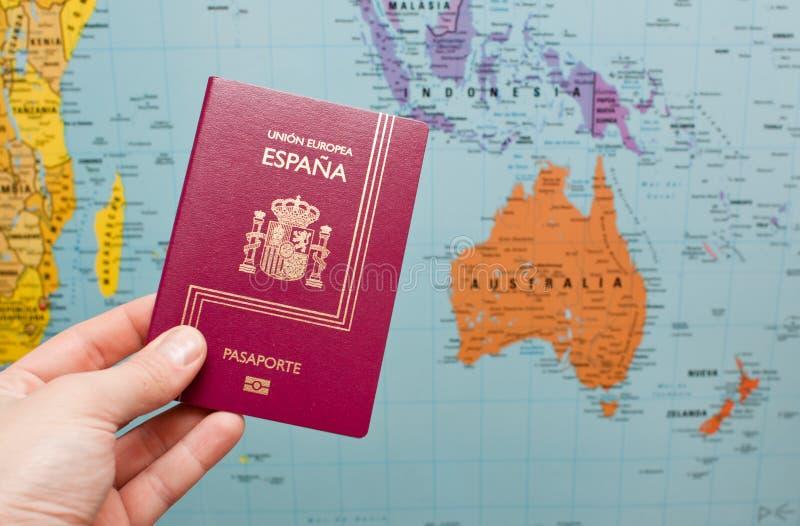 Passeport espagnol images stock