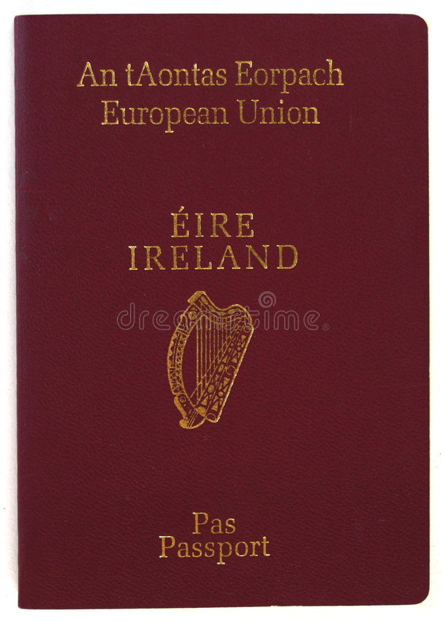 Passeport Irlandais Photographie stock libre de droits