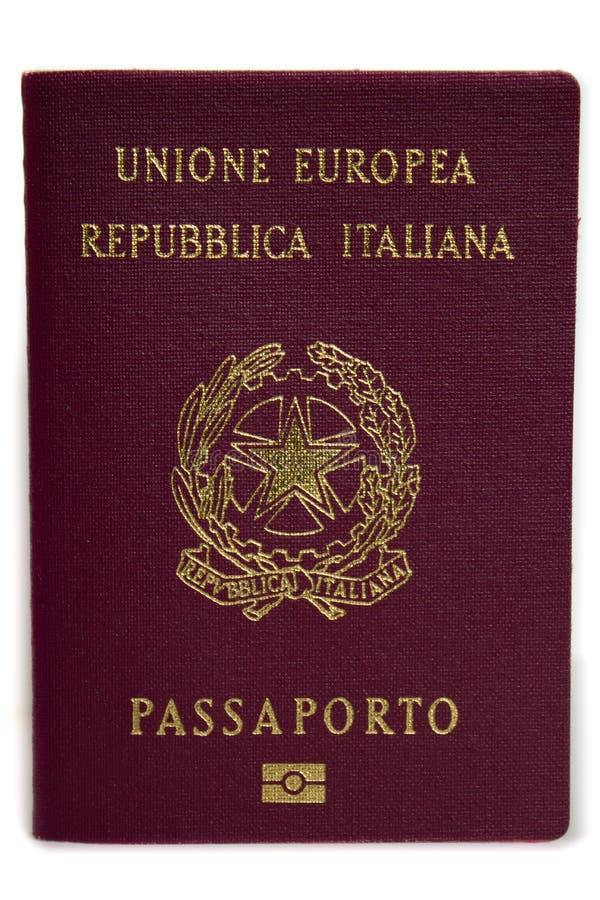 Passeport italien image libre de droits