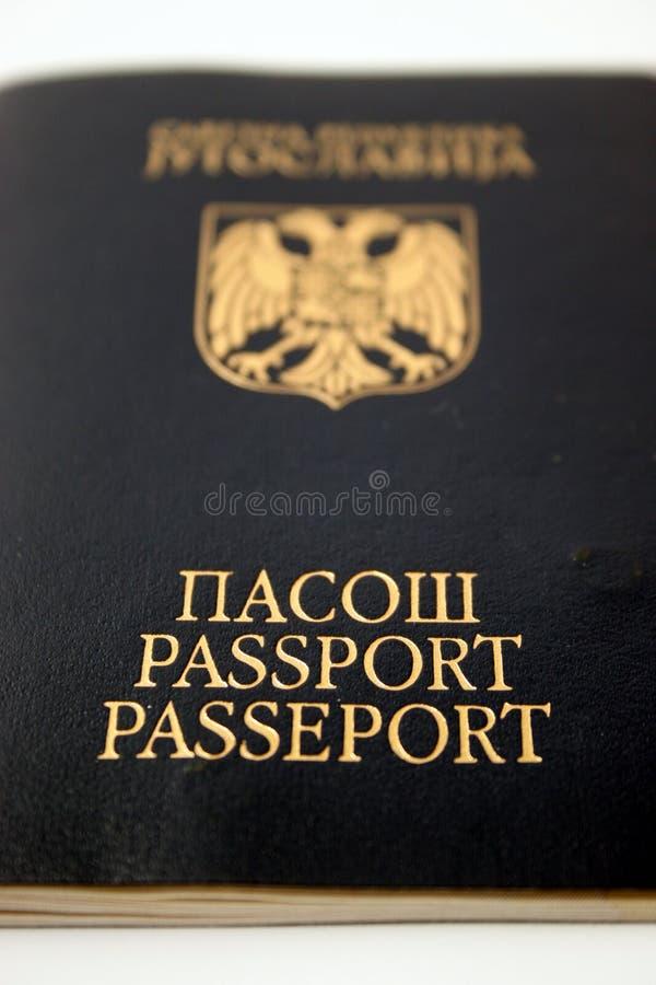 Passeport, passeport Yougoslavie image libre de droits