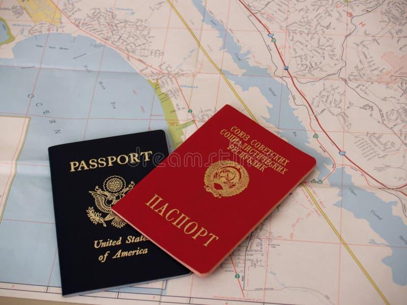 Passeport soviétique photo stock