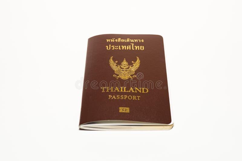 Passeport Thaïlande sur le fond de blanc d'isolat photo libre de droits