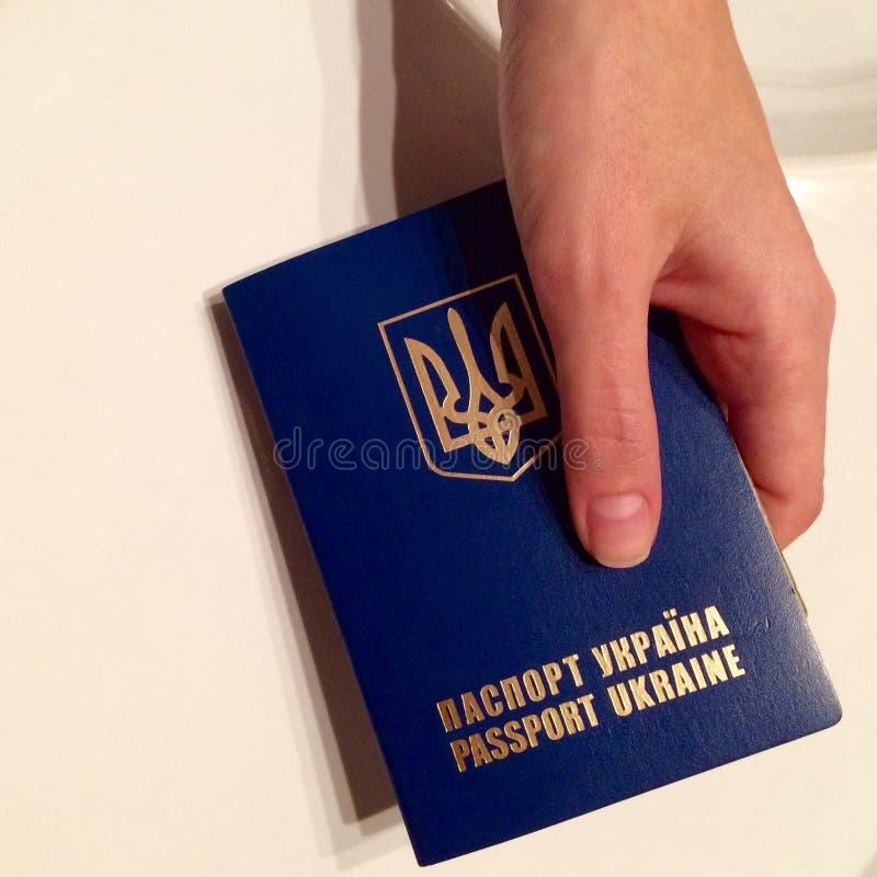 Passeport ukrainien photo libre de droits