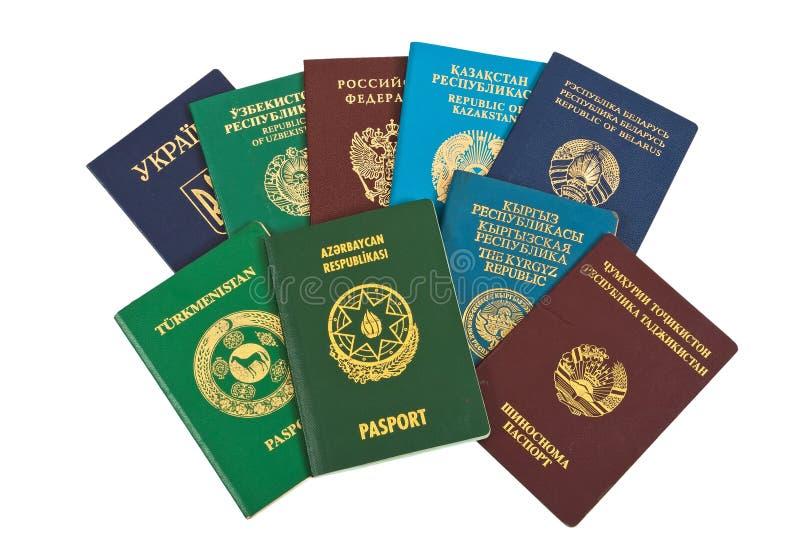 Passeports étrangers photo libre de droits