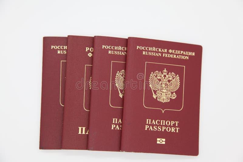 Passeports étrangers de Russi photographie stock