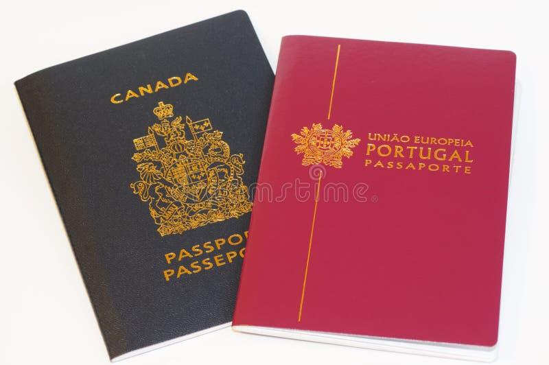 Passeports - citoyenneté de duo images stock