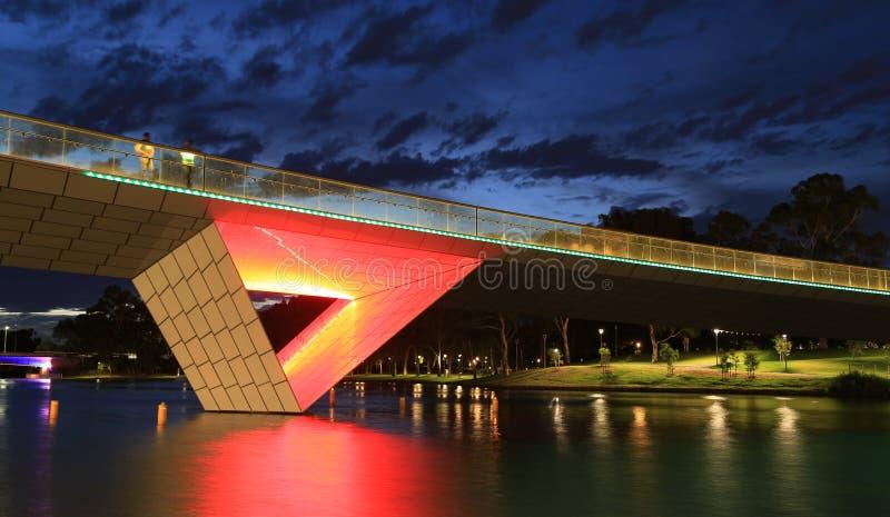 Passerella pedonale del fiume di Torrens, Adelaide fotografia stock