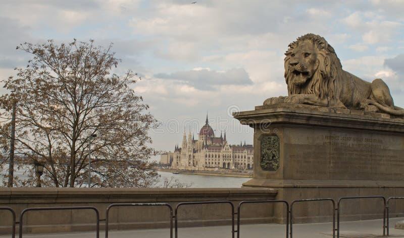 Passerelle à chaînes, Budapest photographie stock