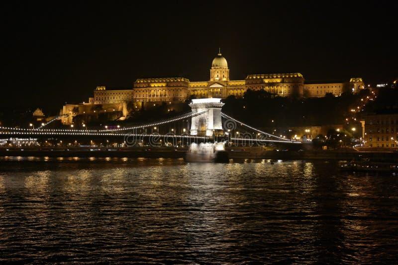 Passerelle à chaînes, Budapest image libre de droits