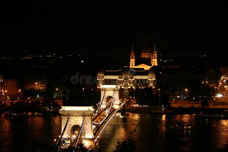 Passerelle à chaînes de Budapest photographie stock