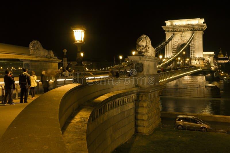 Passerelle à chaînes de Szechenyi à Budapest photo libre de droits