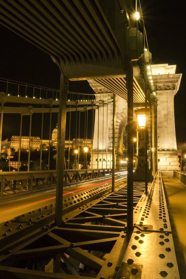 Passerelle à chaînes de Szechenyi à Budapest photos libres de droits