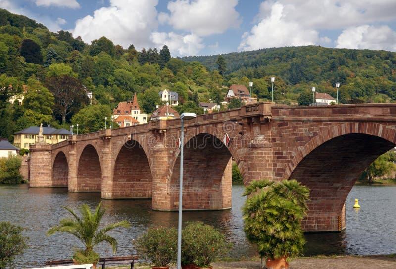 Passerelle à Heidelberg Allemagne photos libres de droits