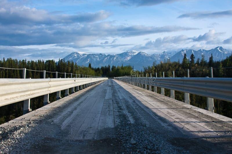 Passerelle à la rue Elias de Wrangell images libres de droits