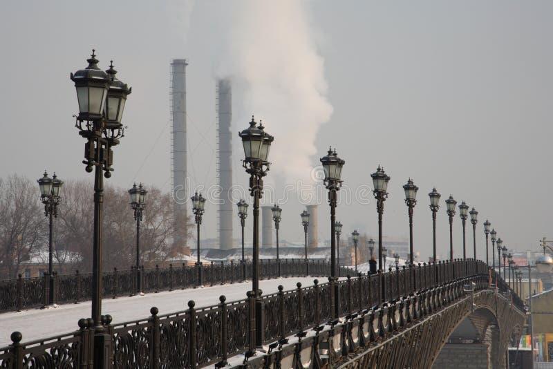 Passerelle à Moscou image libre de droits