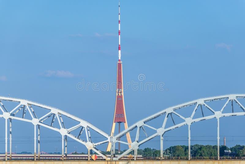 Passerelle à Riga photographie stock