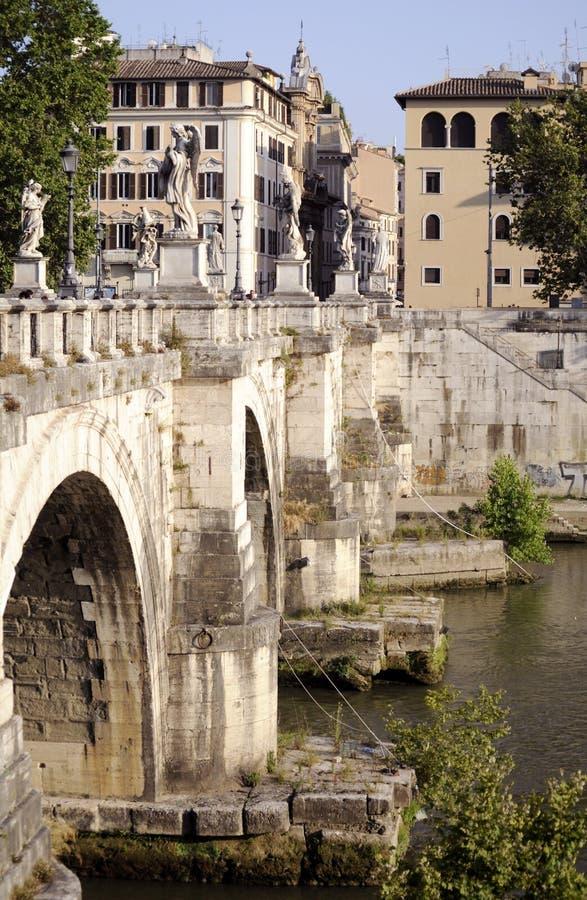 Passerelle à travers Tiber photographie stock