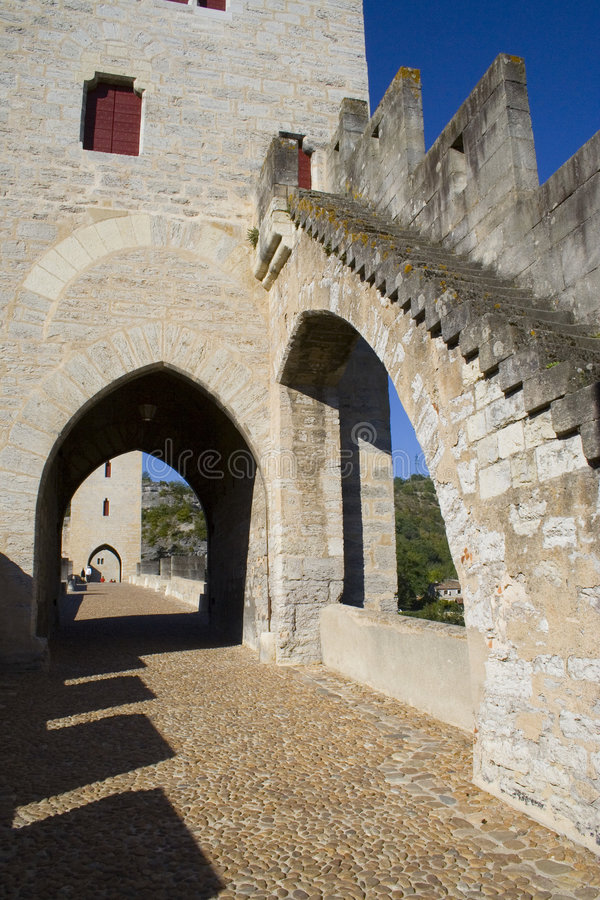 Passerelle antique photographie stock