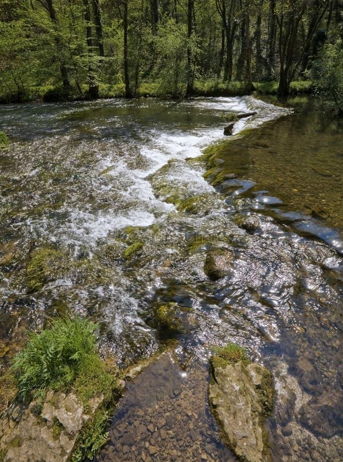 Passerelle au-dessus de fleuve photographie stock