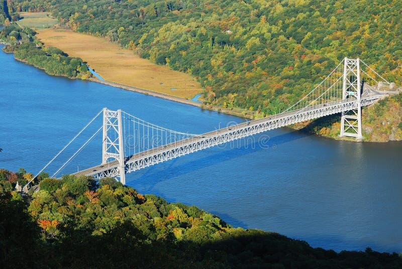 Passerelle au-dessus de fleuve de Hudson image libre de droits