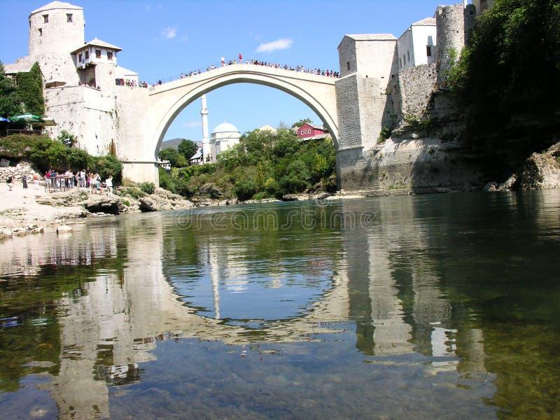Passerelle au-dessus de fleuve Neretva photos libres de droits