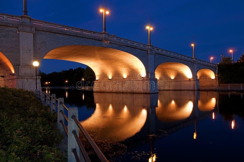 Passerelle au-dessus du canal de Rideau, Ottawa images libres de droits