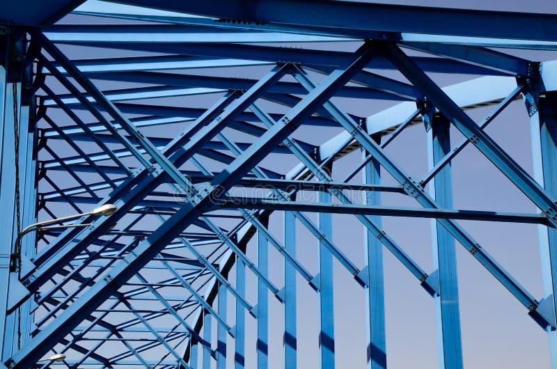 Passerelle bleue images libres de droits