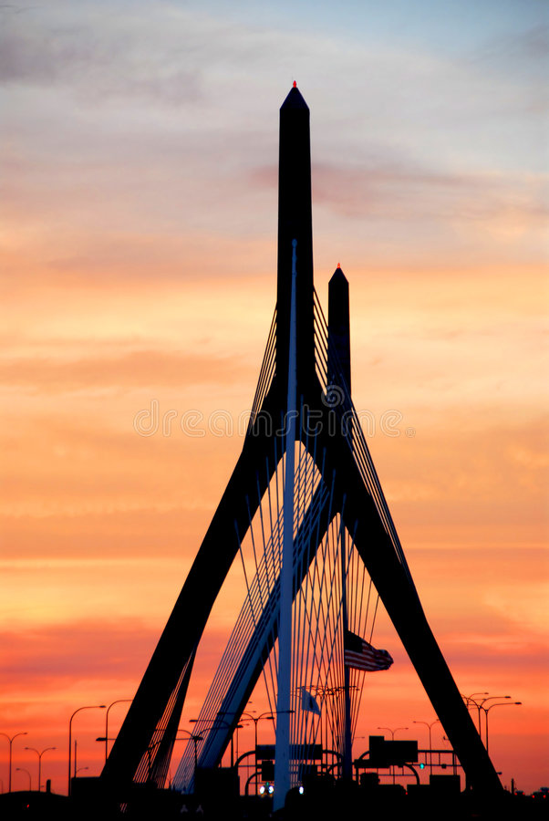 Passerelle Boston de Zakim image stock