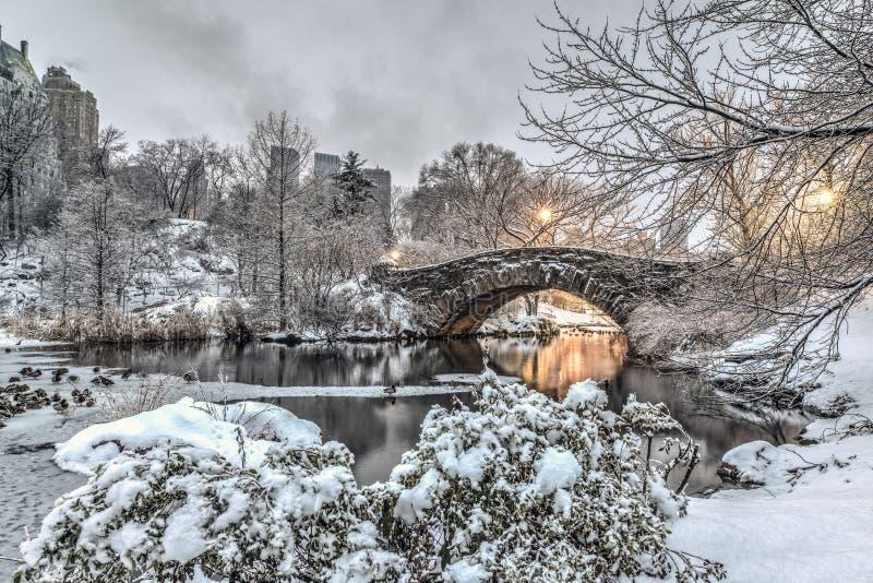 Passerelle Central Park, New York City de Gapstow photo libre de droits