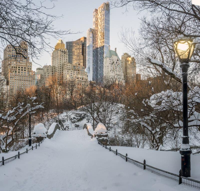 Passerelle Central Park, New York City de Gapstow images libres de droits