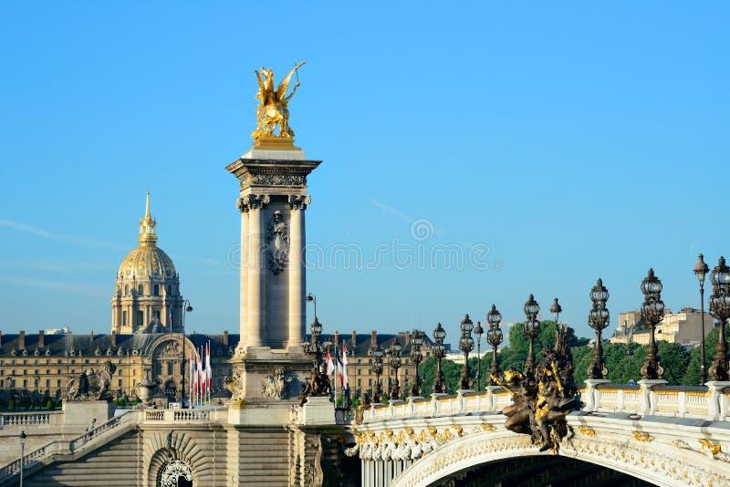 Passerelle d'Alexandre III images libres de droits
