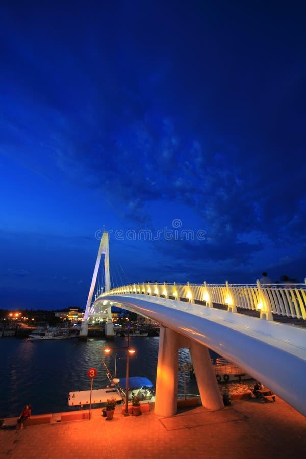 Passerelle d'amoureux de quai de Danshui Fisher photo stock