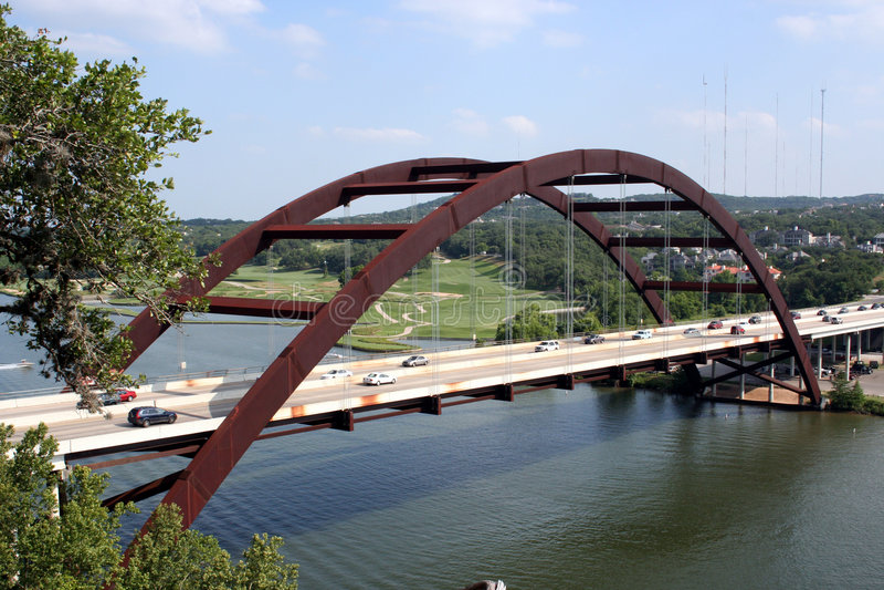 Passerelle d'Austin 360 image libre de droits