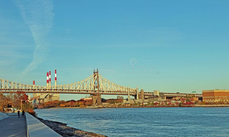 Passerelle d'Ed Koch Queensboro photographie stock libre de droits
