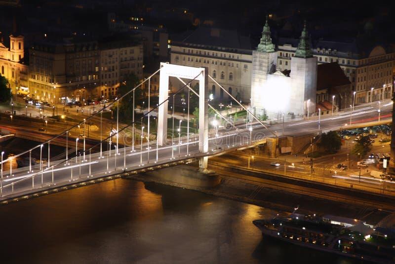 Passerelle d'Elizabeth, Budapest, Hongrie de citadelle photographie stock libre de droits