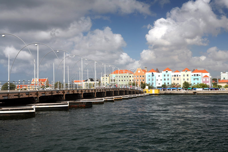 Passerelle d'Emma - Curaçao image stock