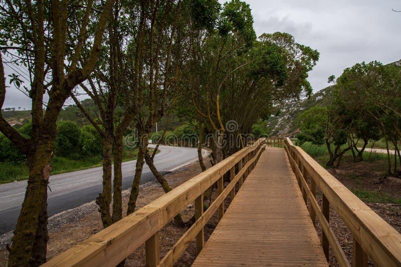Passerelle d'Escarpas à Torres Vedras Portugal photos libres de droits