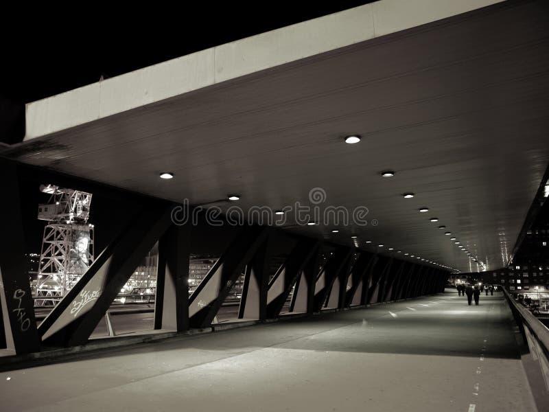 Passerelle d'Euskalduna à Bilbao photos libres de droits
