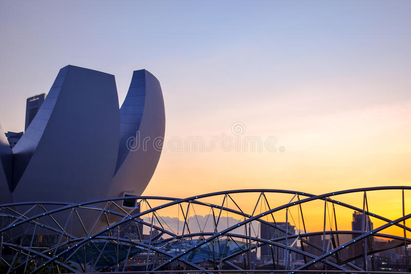 Passerelle d'helice, Singapour photo stock