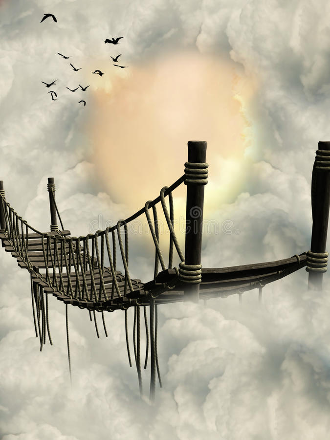 Passerelle d'imagination illustration libre de droits