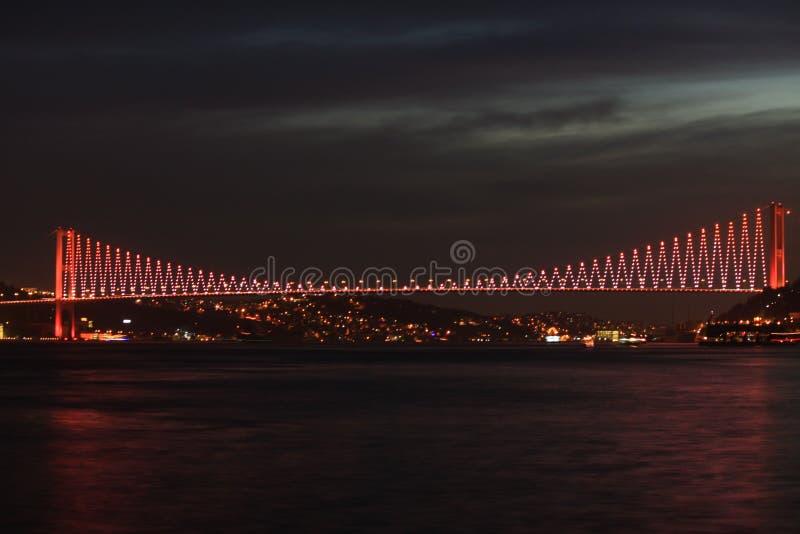 Passerelle d'Istanbul Bosphorus photos stock