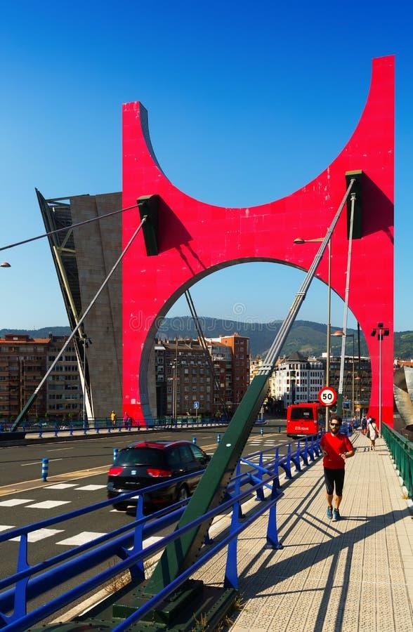 Passerelle d'onguent de La à Bilbao, Espagne photos libres de droits