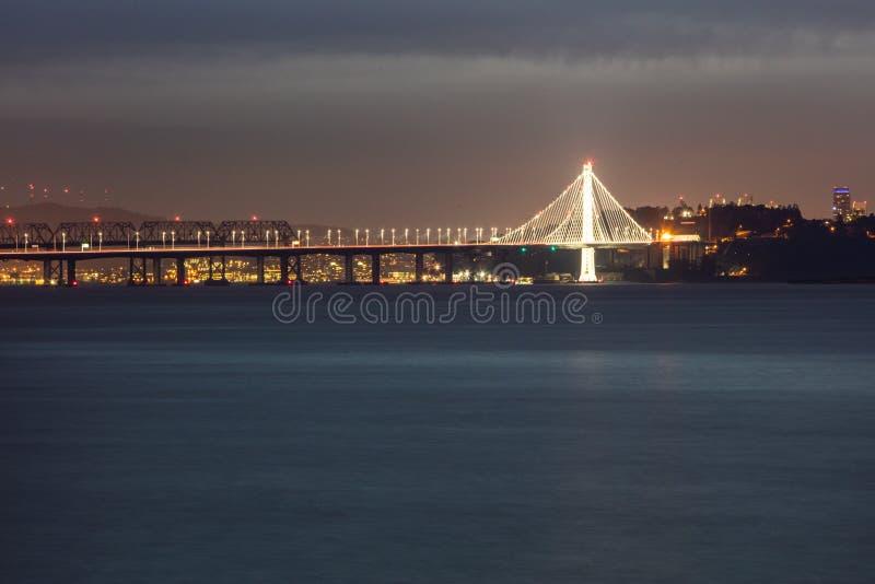 Passerelle de baie connectant Oakland et San Francisco photos libres de droits