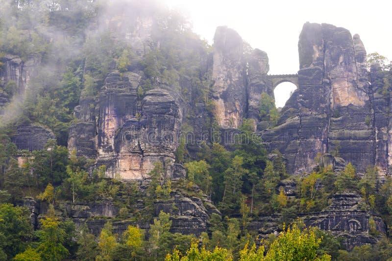 Passerelle de Bastei, Suisse saxonne, Allemagne photos libres de droits