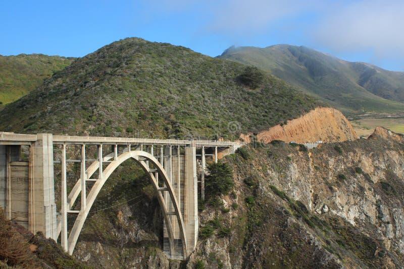 Passerelle de Bixby - grand Sur - Californie photos stock