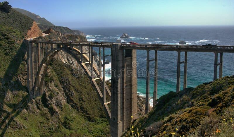 Passerelle de Bixby - grand Sur - Californie photos libres de droits