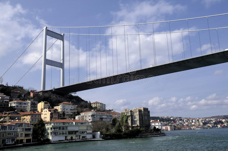 Passerelle de Bosphorus à Istanbul photo stock